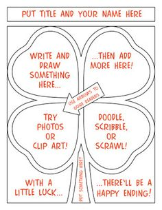 FREE St. Patrick's Day Comic Strip Template (minus the red writing!)