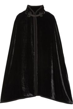 Black velvet Button and concealed hook fastening at front 82% rayon, 18% silk Dry clean