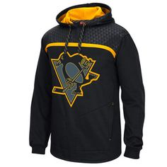 617886b8f Men s Reebok Black Pittsburgh Penguins Cross Check Alt Logo Pullover Hoodie  Pittsburgh Penguins Gear