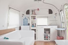 Non-Traditional Full-Time Living Airstream Interior
