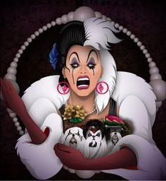 Designer Shih Tzus - Manila Luzon, from Ru Paul's Drag Race (season 3), channeling Cruella De Vil.