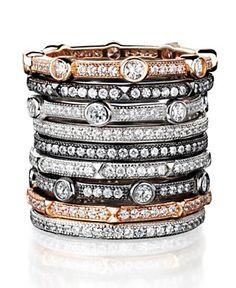CRISLU Stackable Rings - Fashion Jewelry - Jewelry & Watches - Macy's