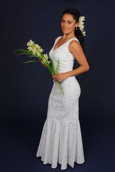 Hawaii white wedding dress-maeva