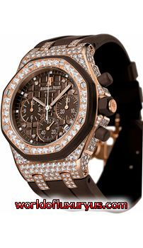 26092OK.ZZ.D080CA.01 - This Audemars Piguet Royal Oak Offshore Lady watch in rose gold features a 37mm case, brown dial, bezel set with diamonds, and a chocolate brown rubber strap. - See more at: http://www.worldofluxuryus.com/watches/Audemars-Piguet/Royal-Oak-Offshore/26092OK.ZZ.D080CA.01/62_64_423.php#sthash.Fv0nnSI3.dpuf