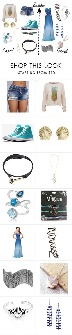 """Daughter of Poseidon"" by nmercadante on Polyvore featuring Wildfox, Tiffany & Co., MIANSAI, Kate Spade, Effy Jewelry, Disney, La Femme, Gianvito Rossi, Urbiana and Bling Jewelry"