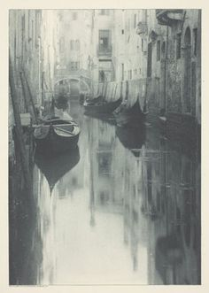 Alfred Stieglitz, Various Artists. A Venetian Canal. 7 x 4 x cm). The Camera Club, New York. © 2019 Estate of Alfred Stieglitz / Artists Rights Society (ARS), New York. Alfred Stieglitz, Venice Canals, Photocollage, Foto Art, Vintage Photographs, Belle Photo, Black And White Photography, Old Photos, Saatchi
