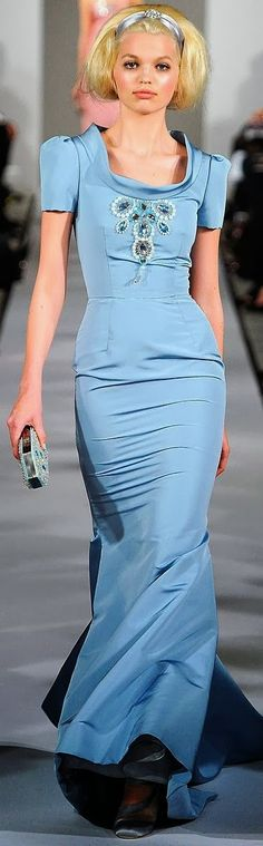 Light Blue Long Maxi Dress