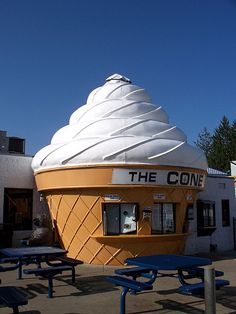 The Cone! Voted Cincinnati's best soft serve, AOL's best family friendly restaurant, and one of the top ten quirkiest places to visit in the US. Kids love it!