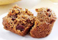 Muffins au son, aux carottes et aux raisins secs