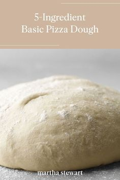 Make homemade pizza dough with just 5-ingredients with our step-by-step recipe for this classic comfort food. Add your favorite toppings and tomato sauce for a delicious family-friendly meal. #marthastewart #recipes #recipeideas #comfortfood #comfortfoodrecipes Pizza Recipes, Bread Recipes, Yummy Recipes, Yummy Food, Making Homemade Pizza, Stromboli, Dinner Is Served, Comfortfood, Pizza Dough