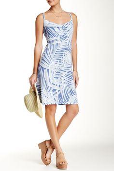 Pretty Blue and White Tommy Bahama Palms Dress