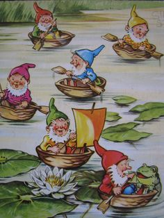 Illustration taken from & jolly dwarfs& published by Brimax Books, England. Printed in Western Germany. Art And Illustration, Illustration Inspiration, Elves And Fairies, Fairy Art, Magical Creatures, Illustrators, Fantasy Art, Fairy Tales, Cartoon