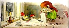 Findus wraps Pettson's Christmas present. From Findus at Christmas by Sven Nordqvist. Days Before Christmas, A Christmas Story, Christmas Tables, Christmas Eve, Trolls, Nordic Art, Scandinavian Christmas, Modern Christmas, Christmas Pictures