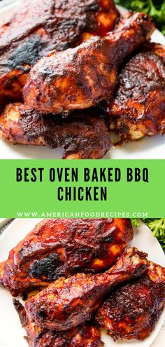 This Oven Baked BBQ Chicken іѕ easy tо mаkе and includes a homemade nо-сооk barbecue sauce. Bbq Chicken Recipe Oven, Baked Barbeque Chicken, Baked Chicken Drumsticks, Baked Chicken Recipes, Baked Chicken Pieces, Best Bbq Chicken, Oven Baked Chicken, Drumstick Recipes Oven, Best Oven