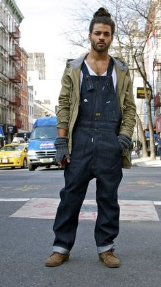 e0610dd827 Denim Dungaree Overall + White Tee + Jacket   Fashion Inspiration