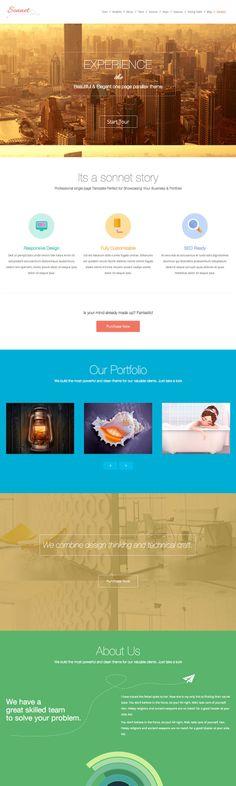 Sonnet #OnePage #Wordpress Multipurpose Portfolio #theme - #webdesign #inspiration