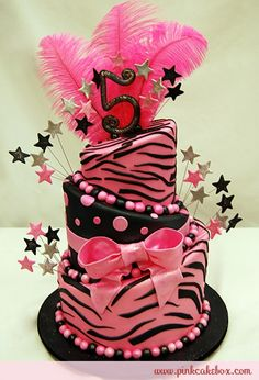 5th Topsy Turvy Hot Pink Zebra Print Cake cooking-baking-and-grilling