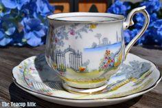 Royal Albert Rosedale Teacup and Saucer Set by TheTeacupAttic Tea Cup Set, Cup And Saucer Set, Tea Cup Saucer, Tea Sets Vintage, Bone China Tea Cups, Porcelain Mugs, Wedding Gifts, Party Wedding, Royal Albert