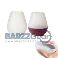 Collapsible Unbreakable Silicone Stemless Beverage Glass