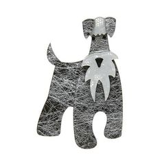 "Erstwilder Limited Edition The Schnauzer and Klaus Brooch. ""I'm all dog and I don't know why people keep getting confused I'm sure it must be the moustache. Dog Jewelry, Plastic Jewelry, All Dogs, Fur Babies, Cute Dogs, Moustache, Resin, Confused, Brooches"
