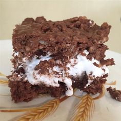 """Krispy Brownie Delights 