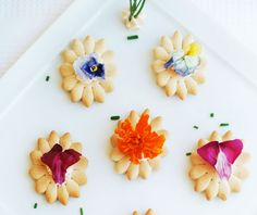 Edible Flower Appetizer