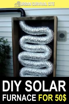 A solar furnace could keep a single room nice and warm on a sunny day. This would be great if the power went out as you wouldn't have to use any of your fuel. Urban Survival, Survival Food, Wilderness Survival, Survival Tips, Survival Skills, Outdoor Stove, Household Cleaners, Disaster Preparedness, Diy Solar