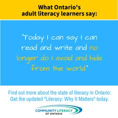 Literacy, Why It Matters Reading Books, Books To Read, Areas Of Life, Literacy Skills, I Can, Graphics, Writing, Sayings, Board