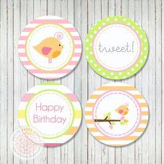 cupcake toppers birds - Buscar con Google