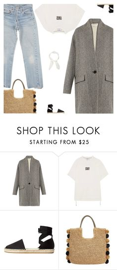 """""""Untitled #4920"""" by amberelb ❤ liked on Polyvore featuring Levi's, Étoile Isabel Marant, Vetements, MANGO, John Lewis and Chloé"""