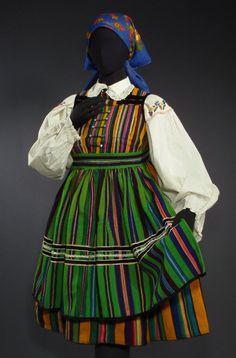Folk costume from Opoczno, Poland