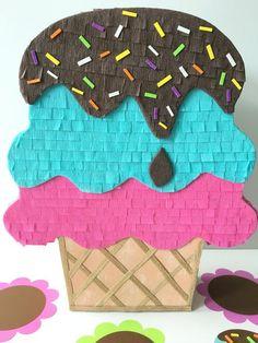 Cupcake Party, Pinata Cupcakes, Spy Birthday Parties, Birthday Pinata, Birthday Room Decorations, Diy Party Decorations, Ice Cream Party, Fiesta Party, Candy Party