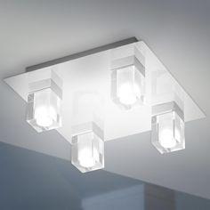 LED badkamer plafondlamp Marija met vier lichtbr | lamp | Pinterest