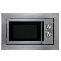 SIA BIM10SS 20L Integrated Built in Microwave Oven in Stainless Steel · $99.99 Built In Microwave Oven, Kitchen Island With Stove, Kitchen Equipment, Colorful Interiors, Kitchen Appliances, Stainless Steel, Turntable, Building, Modern