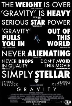 Our Fake #Gravity poster rockets space puns at the speed of light: http://www.nextmovie.com/blog/gravity-space-puns-poster/ #SandraBullock #GeorgeClooney