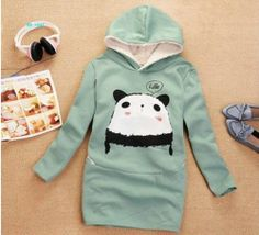 Panda Hoodie in a gorgeous turquoise; $20.59 from the ladies hoody section of www.pandathings.com