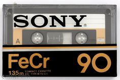 SONY FeCr 90 Casette Tapes, Vhs Cassette, Radios, Sony Design, Sony Electronics, Tape Recorder, Philips, Time Capsule, Audio System