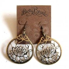 Lotus earrings...Want these!