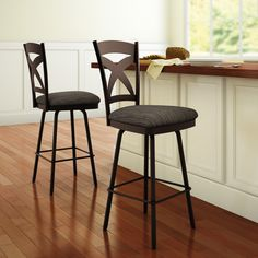 AMISCO - Marcus Stool (41451) - Furniture - Kitchen - Countryside collection - Traditional - Swivel stool