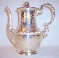 Antique Silverplate Rogers Smith & Co luxury Tea Pot very ornate from rcantiques on Ruby Lane