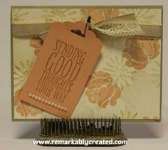 Stampin' UP! Simple Stems Scallop Tag Topper - www.remarkablycreated.com