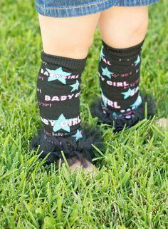 Black baby girl Ruffle Tutu Leg Warmers - Perfect for Birthday, Costume, Photo Prop, Dress up, Fits Girls 6M-6X by littlebunnytutus on Etsy
