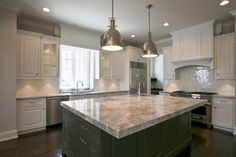 """Read More"""" Kitchen,: Excellent U Shape Kitchen Decoration With Solid Wood Kitchen Floor Along With Rectangular Grey Solid Wood Kitchen Islands And White Ki"""