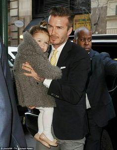 Harper seven Beckham and her daddy