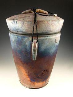 Raku Style Companion Cremation Urn for Ashes
