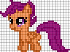 Scootaloo My Little Pony Perler Bead Pattern / Bead Sprite