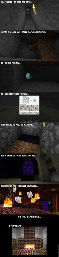 hahah xD Minecraft~I'm laughing so hard right now
