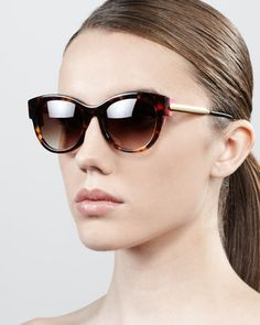 7e6db0d1a8 Angely Colored-Temple Sunglasses Havana Pink