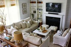 Living Room Sectional Sofa Layout Built Ins 36 Ideas Small Living Room Layout, Small Living Room Furniture, Living Room Furniture Arrangement, Small Room Design, Living Room Flooring, Small Living Rooms, My Living Room, Living Room Designs, Bedroom Furniture