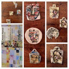 #ENSCHEDE #GalerieHartWare Lief Valentijnskadootje; hangertjes van keramiek. Super origineel, kleine unieke kunstwerkjes. En ze schijnen ook nog es geluk te brengen..... ❤️ #haverstraatpassage #enschede